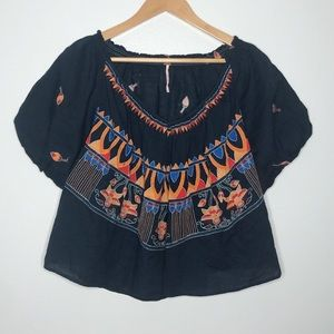 Freepeople Bohemian Embroidered Blouse Size S